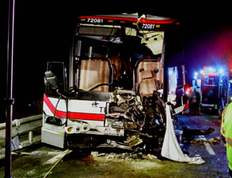 26 injured in a bus accident